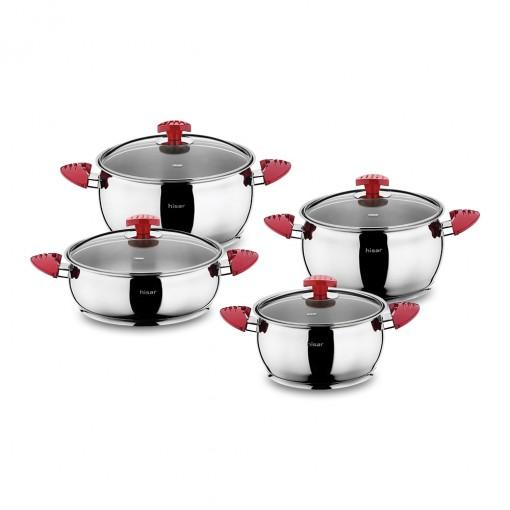 Lisbon 8 Piece Stainless Steel Cookware Set
